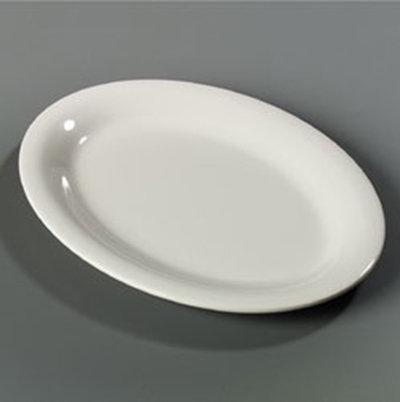 "Carlisle 4308242 Durus Oval Platter - 12x9-1/4"" Melamine, Bo"