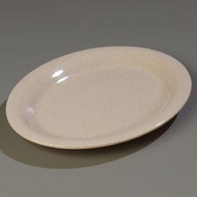 "Carlisle 4308271 Durus Oval Platter - 12x9-1/4"" Melamine, Sand"