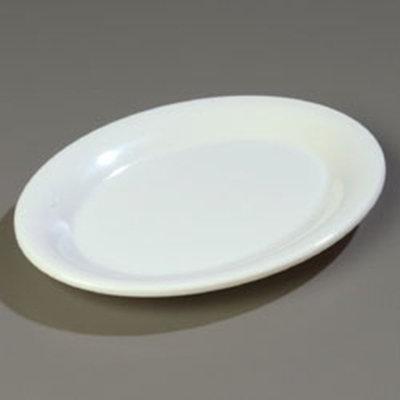 """Carlisle 3308602 Sierrus Oval Platter - 9-1/2x7-1/4"""" Melamine, White"""