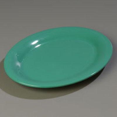 "Carlisle 4308609 Durus Oval Platter - 9-1/2x7-1/4"" Melamine, Meadow Green"