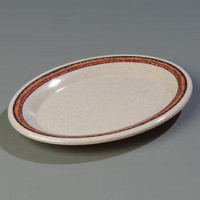 """Carlisle 43087908 Durus Oval Platter - 9-1/2x7-1/4"""" Melamine, Sierra Sand on Sand"""