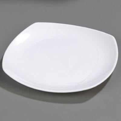 """Carlisle 4330402 11-1/2"""" Square Dinner Plate - Melamine, White"""