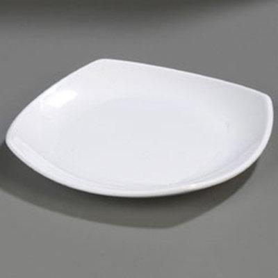 """Carlisle 4330802 8"""" Square Dinner Plate - Melamine, White"""