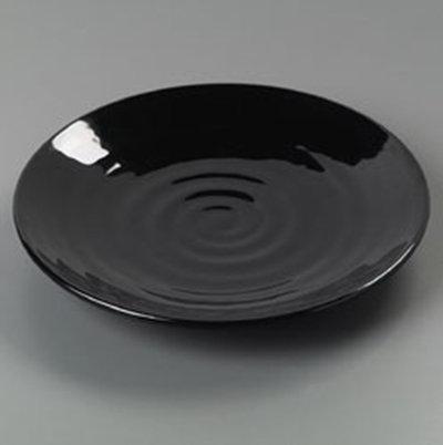 """Carlisle 4340403 9-1/2"""" Terra Dinner Plate - Melamine, Black"""