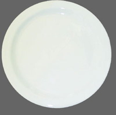 "Carlisle 4350002 10-1/4"" Dallas Ware Dinner Plate - Melamine, White"