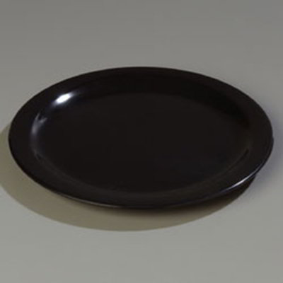 "Carlisle 4350003 10-1/4"" Dallas Ware Dinner Plate - Melamine, Black"