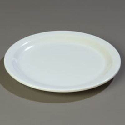 Carlisle 43501-802 Dallas Ware Dinner Plate, 9 in, Melamine, 12 per Pack, White