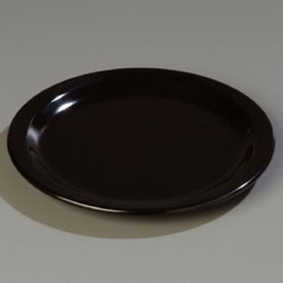 "Carlisle 4350103 9"" Dallas Ware Dinner Plate - Melamine, Black"
