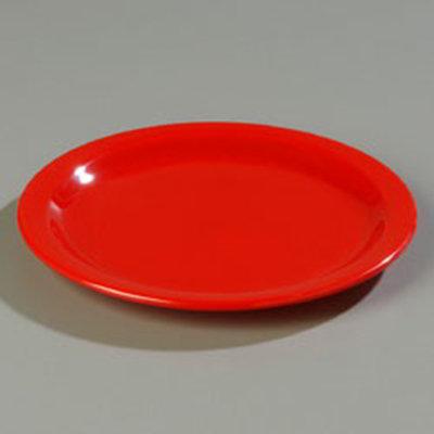 "Carlisle 4350305 7-1/4"" Dallas Ware Salad Plate - Melamine, Red"
