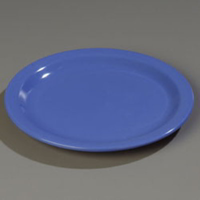 "Carlisle 4350114 9"" Dallas Ware Dinner Plate - Melamine, Blue"