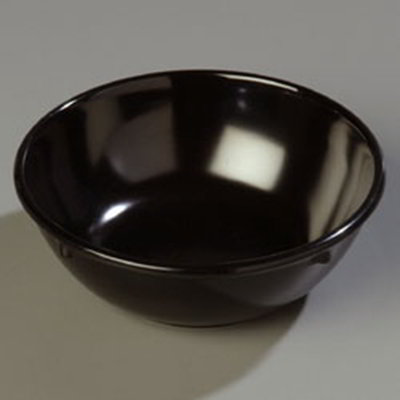 Carlisle 4352103 14-oz Dallas Ware Nappie Bowl - Melamine, Black
