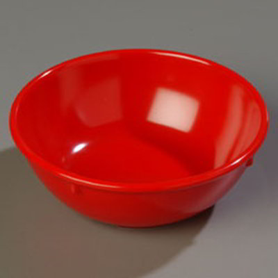 Carlisle 4352105 14-oz Dallas Ware Nappie Bowl - Melamine, Red