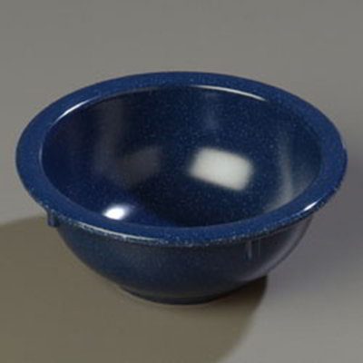 Carlisle 4352235 14-oz Dallas Ware Rim Nappie Bowl - Melamine, Cafe Blue