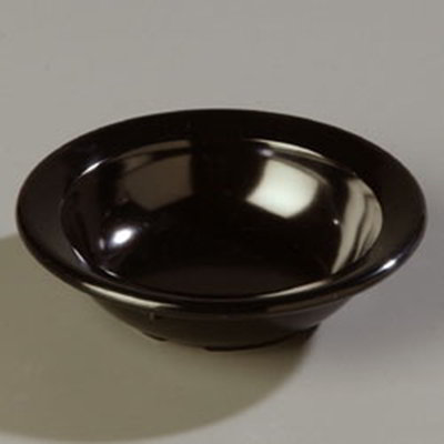 Carlisle 4353203 3-1/2-oz Dallas Ware Fruit Bowl - Melamine, Black