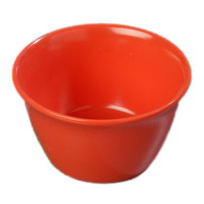 Carlisle 4354052 8-oz Dallas Ware Bouillon Cup - Melamine, Sunset Orange