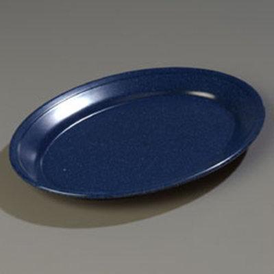 "Carlisle 4356035 Dallas Ware Oval Platter - 12x8-1/2"" Melamine, Cafe Blue"