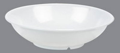 Carlisle 4373902 57-oz Footed Serving Bowl - Melamine, White