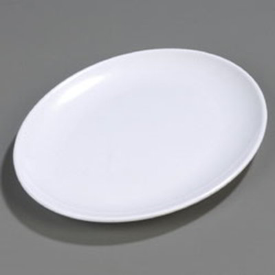 "Carlisle 4383002 Oval Epicure Display Platter - 16x12"" Melamine, White"