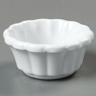 Carlisle 4394402 4-oz Scalloped Ramekin - White