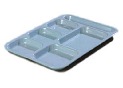 "Carlisle 4398859 (6)Compartment Tray - Right-Handed, 14-1/2x10"" Slate Blue"