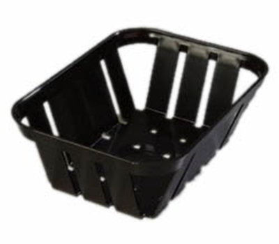 "Carlisle 4403003 Munchie Basket - 7-3/8x5-3/8x2-1/2"" Black"