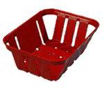 """Carlisle 4403005 Munchie Basket - 7-3/8x5-3/8x2-1/2"""" Red"""