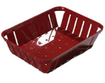 "Carlisle 4403105 Munchie Basket - 10-3/8x8x2-1/2"" Red"