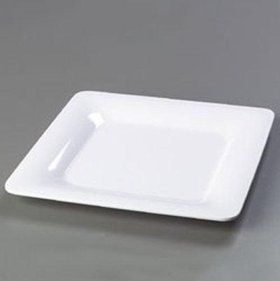 "Carlisle 4440002 12"" Palette Designer Square Plate - Melamine, White"