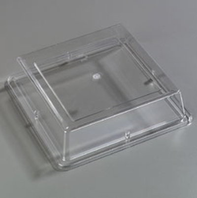 Carlisle 44400C07 Palette Designer Square Plate Cover- Polycarbonate, Clear