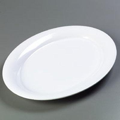 """Carlisle 4441202 Pallete Designer Oval Platter - 21x15"""" Melamine, White"""