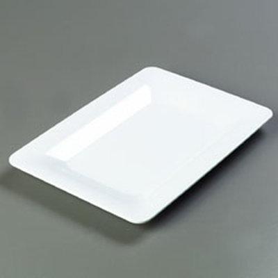 """Carlisle 4441402 Pallete Designer Rectangular Platter - 14x10"""" Melamine, White"""