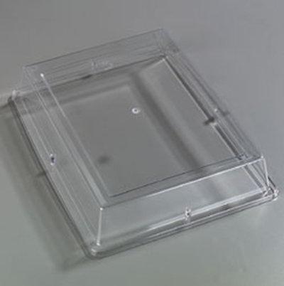 "Carlisle 44416C07 Pallete Designer Rectangular Platter Cover - 17x13"" Polycarbonate, Clear"