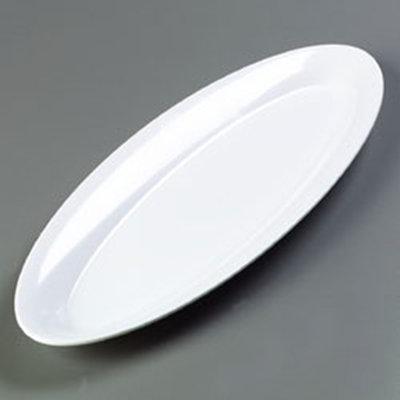 """Carlisle 4441802 Pallete Designer Oval Salmon Platter - 22x8"""" Melamine, White"""