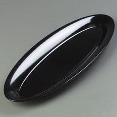 """Carlisle 4441803 Pallete Designer Oval Salmon Platter - 22x8"""" Melamine, Black"""