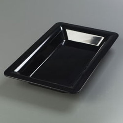"Carlisle 4442203 Full Size Food Pan - 2-1/2""D, Melamine, Black"