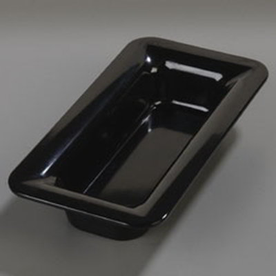 Carlisle 4446203 Third Size Food Pan, 2.5-in Deep, Black