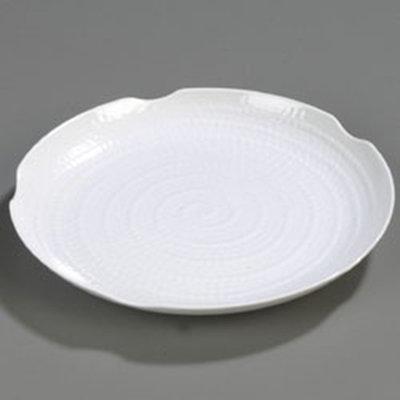 """Carlisle 4451802 18"""" Terra Round Platter - Melamine, White"""