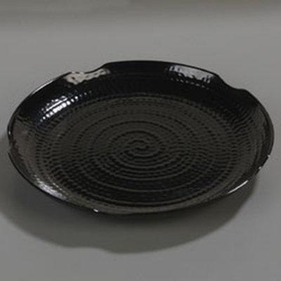 "Carlisle 4451803 18"" Terra Round Platter - Melamine, Black"