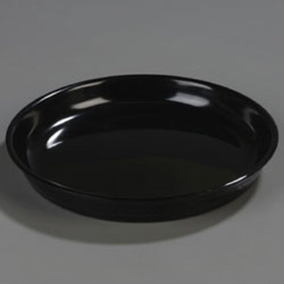 "Carlisle 4453203 11-1/2"" Round Serving Tray - Black"