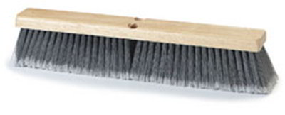 "Carlisle 4501323 18"" Floor Sweep - Hardwood Block, Flagged Poly Bristles, Gray"