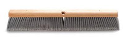 "Carlisle 4501423 24"" Floor Sweep - Hardwood Block, Flagged Poly Bristles, Gray"