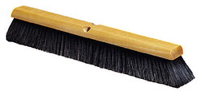 "Carlisle 4503103 24"" Floor Sweep - Hardwood Block, Black Horse Hair/Poly Bristles, Gray"