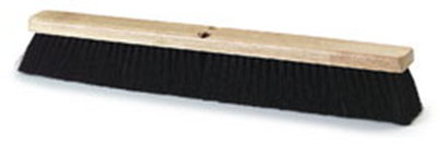 "Carlisle 4505403 24"" Floor Sweep - Fine/Medium, Hardwood Block, Black Tampico Bristles"