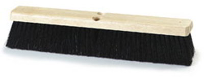 "Carlisle 4507203 18"" Floor Sweep - Fine/Medium, Hardwood Block, Black Poly Bristles"