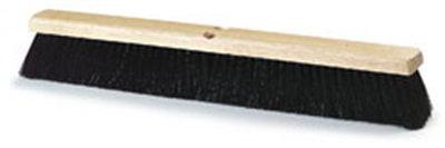 """Carlisle 4507303 24"""" Floor Sweep - Fine/Medium, Hardwood Block, 3"""" Black Poly Bristles"""