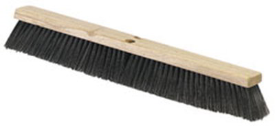 "Carlisle 4507403 36"" Floor Sweep - Fine/Medium, Hardwood Block, Black Poly Bristles"