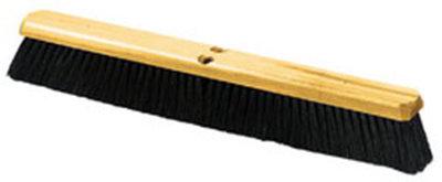 "Carlisle 4513600 24"" Floor Sweep - Medium, Hardwood Block, 3"" Black Tampico/Wire Bristles"