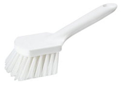 "Carlisle 4547202 9-1/4"" Utility Scrub Brush - Poly, White"