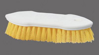 "Carlisle 4549404 8"" Scrub Brush - Plastic/Polyester, Yellow"