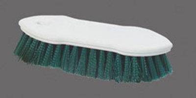 "Carlisle 4549409 8"" Scrub Brush - Plastic/Polyester, Green"